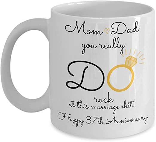 Amazon Com 37th Wedding Anniversary Gift For Parents Mom And