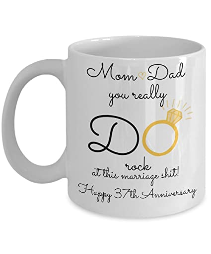 2020a143b03f Amazon.com  37th Wedding Anniversary Gift For Parents - Mom And Dad ...
