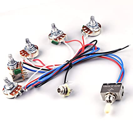 amazon com ascendas electric guitar wiring harness kit 2v2t pot rh amazon com electric guitar wiring harness kits Stratocaster Custom Wiring Harness
