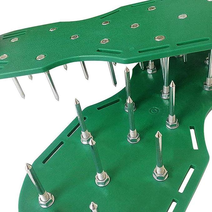 BuyStar Sandalo Aeratore Stars Chiodi in Acciaio temperato Taglia Unica Adattabile ad Ogni Calzatura. Scarpe da Prato per areazione Prato e Giardino con 2 Cinturini Regolabili