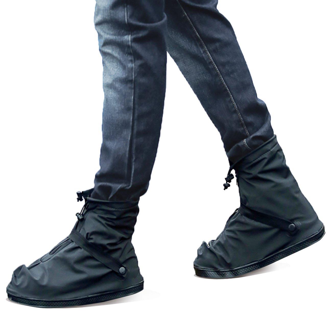 Life-C Black Waterproof Snow Rain Shoes Covers Women Men XXXXL by Life-C (Image #4)