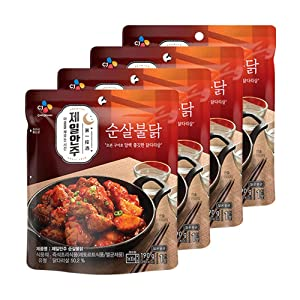 [ 4 Packs ] CJ Bibigo Korean Spicy Boneless Spicy Chicken Dishes 190g