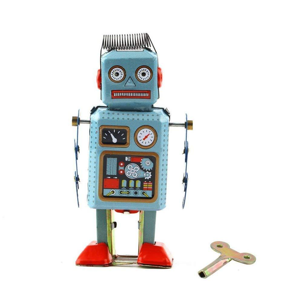 Vektenxi Premium Qualit/ät Nette Vintage Roboter Mechanische Uhrwerk Wind Up Metal Walking Spielzeug Kinder Geschenk