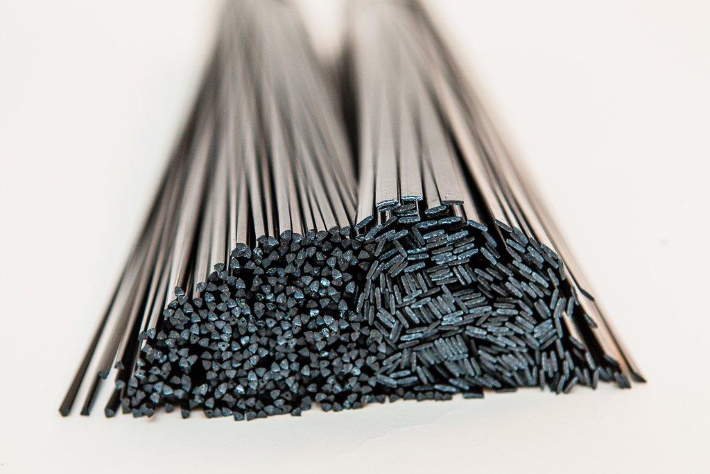 Solutions en plastique UK Baguettes de soudure en plastique PP/EPDM Mélange de formes et dimensions, noir, lot de 46pièces