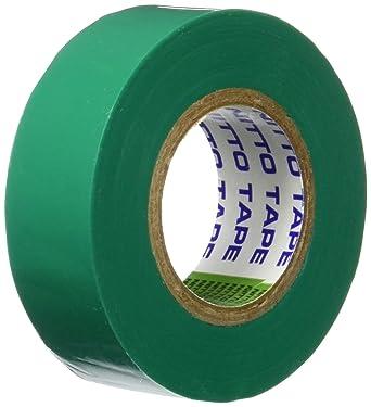19 mm x 10 m Abmessungen NITTO Gr/ün 165845 1040-VPC Isolierband