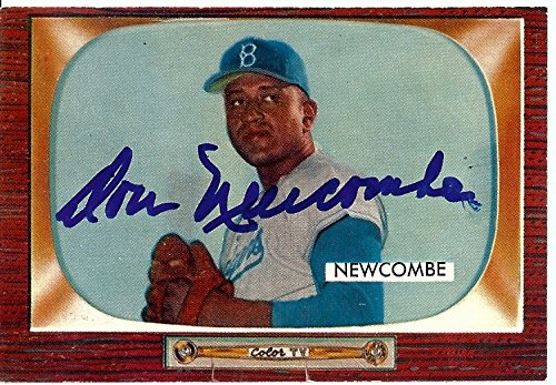 Don Newcombe Signed Autographed Baseball Card 1955 Bowman Dodgers #143 GV865895 Don Newcombe Autographed Baseball