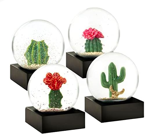 Cactus Set of 4 Miniature Cool Snow Globes by CoolSnowGlobes