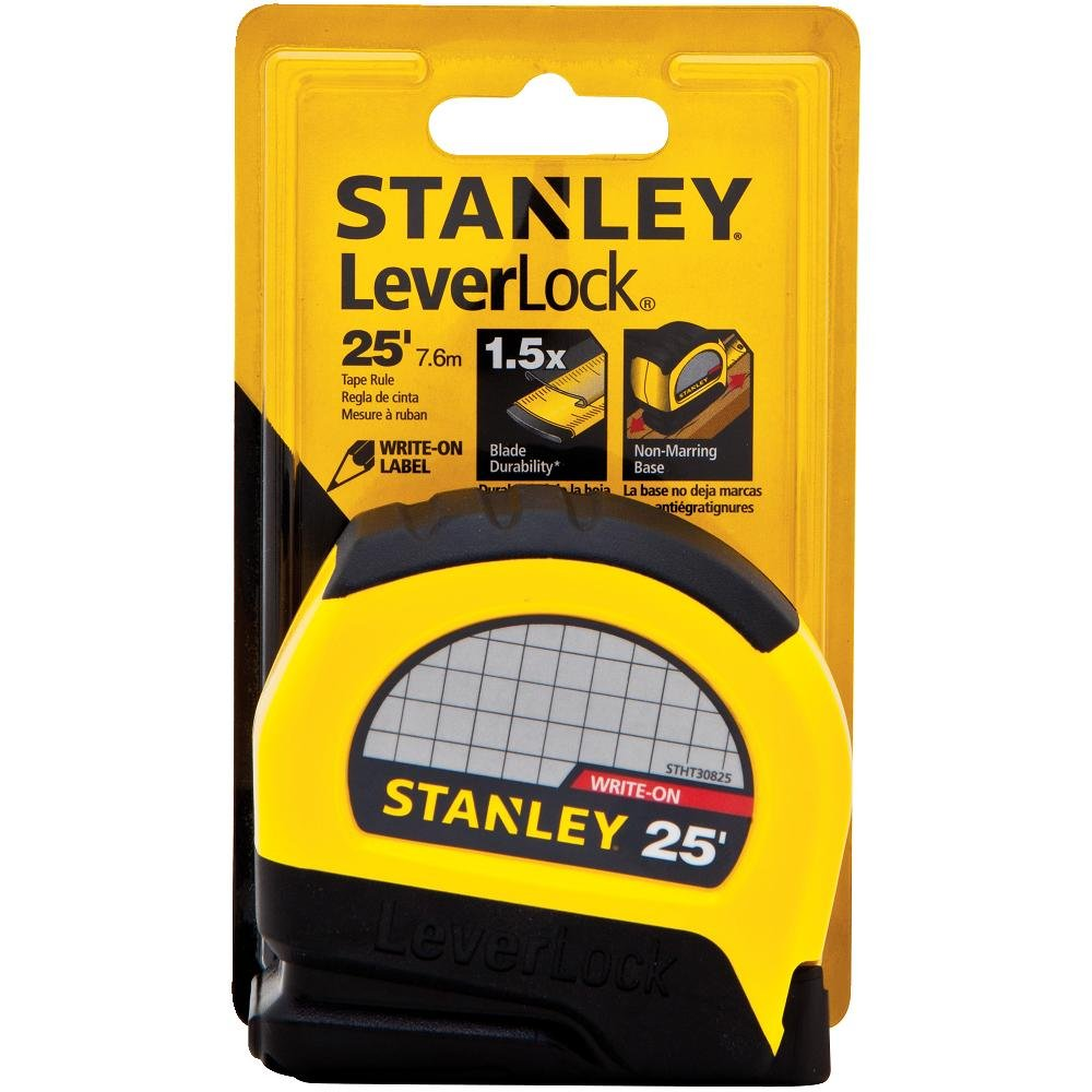 Stanley STHT30825 Lever Lock Tape Rule, 25-Foot