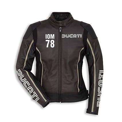 Ducati 9810412 Mujer Moto Chaqueta Piel Sport Racing iom 78 ...