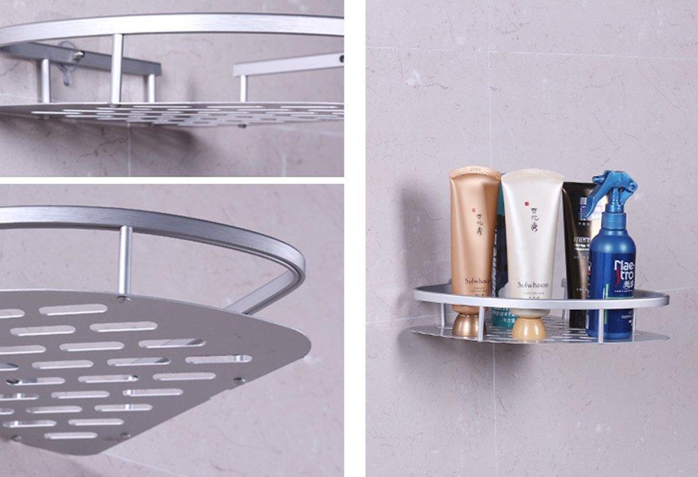 Scaffale portaoggetti angolare da bagno adesivo con
