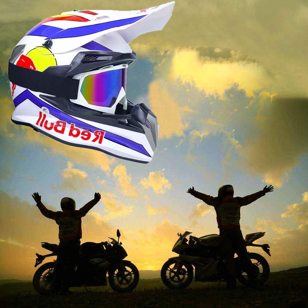 OUTLL Motocross Helm Set mit Brille//Maske//Handschuhe Erwachsene Offroad Motorrad MTB BMX Enduro Helm Bergab Quad Fahrrad Absturz Helm DOT Zertifizierung