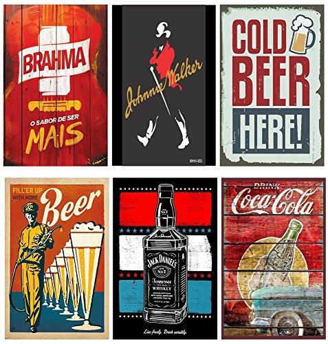 Quadrinhos Decorativos Conveniencia Bebidas Cervejas