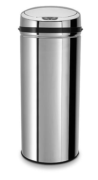 ECHTWERK® EW-AE-0220 Design Edelstahl Abfalleimer INOX mit Sensor ...