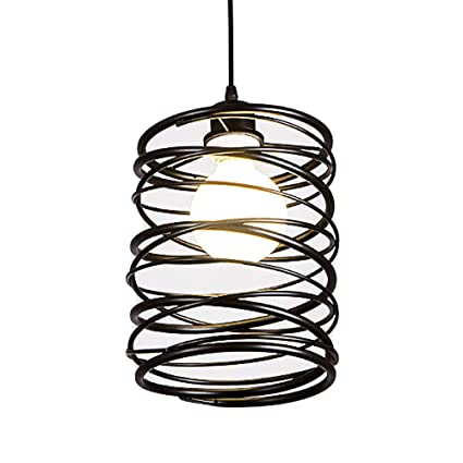 Iron Cage Island Lamp Motent Industrial Vintage Spiral Cage Pendant