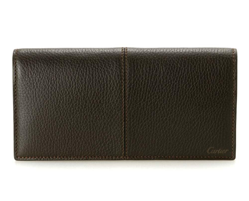 (カルティエ) Cartier 長財布 L3001160 Sellier エボニー ダークブラウン 小銭入れ有り メンズ セリエ B00NFMDLCY
