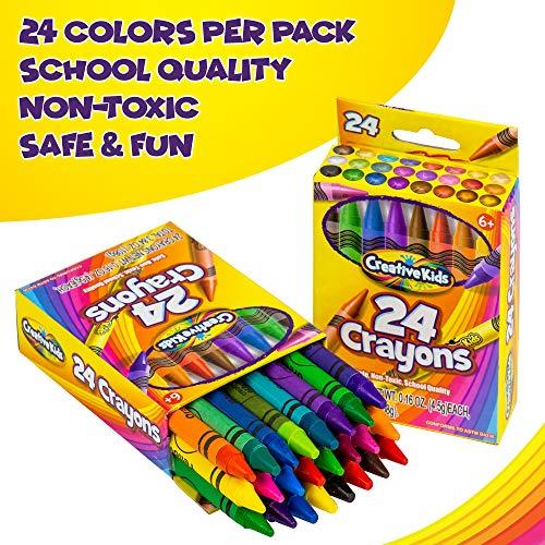 Creative Kids Bulk Classroom Crayons – 36 Packs of 24 Bright, Vibrant Wax Coloring Crayons for Preschool, Kindergarten, Elementary School & Art Class Teachers – ASTM Certified Non Toxic by Creative Kids (Image #6)