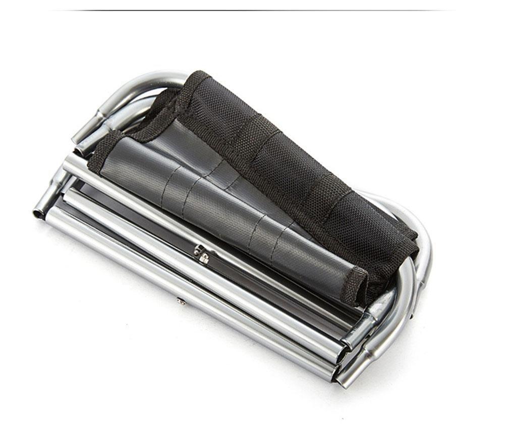Magnificent Hzj Aluminum Alloy Black Outdoor Portable Folding Stool Ibusinesslaw Wood Chair Design Ideas Ibusinesslaworg