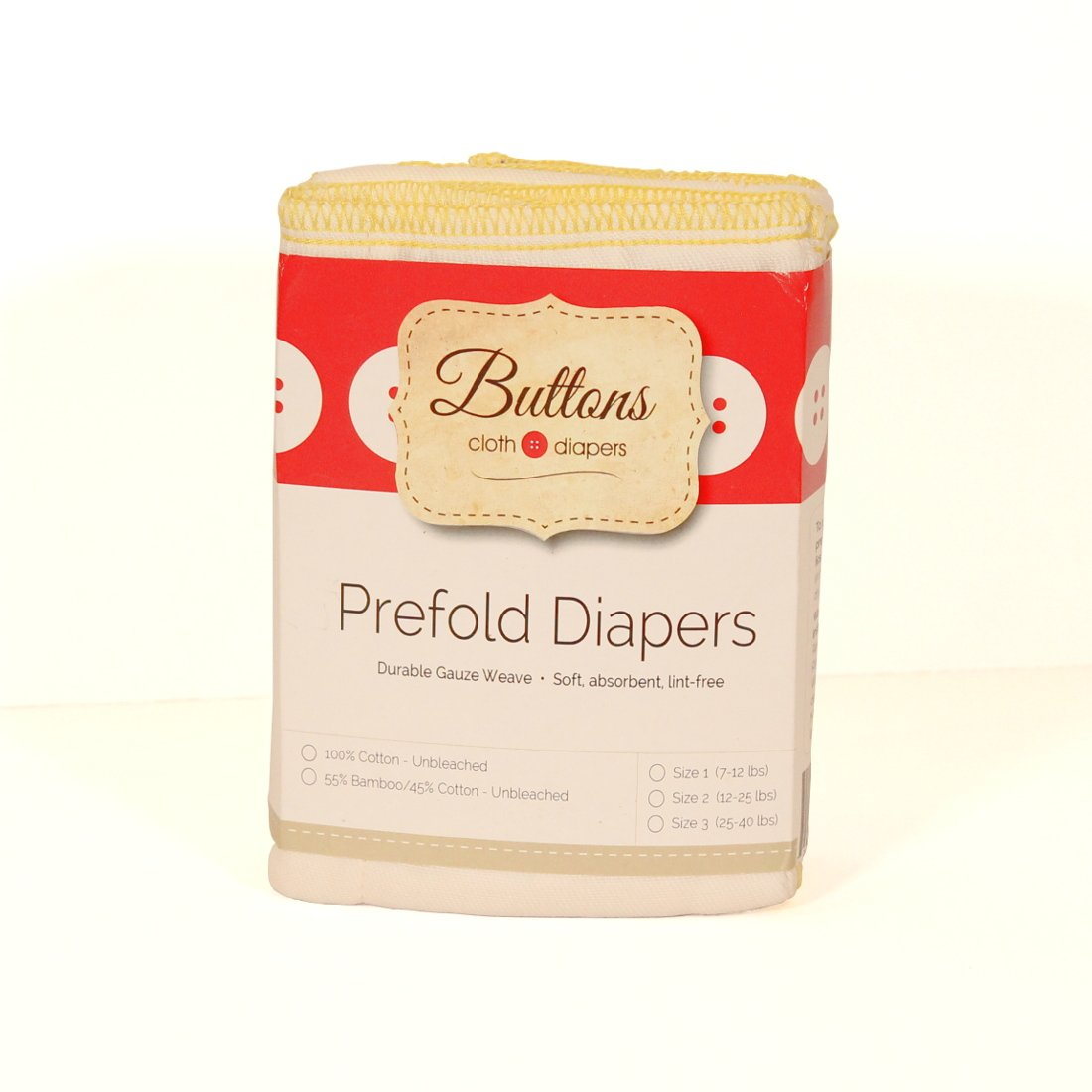 Antimicrobial, 6 Pack Size 3 Natural Premium Buttons Diapers 4x8x4 Baby Cloth Diaper 100/% Unbleached Cotton Organic Prefolds Eco-Friendly