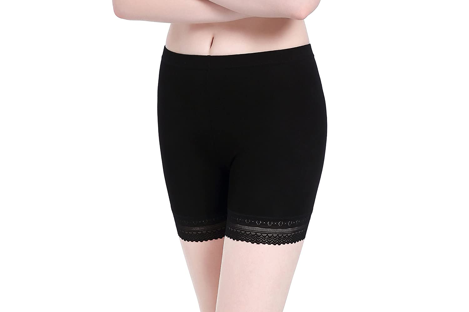CnlanRow Womens Lace Short Skirts Safety Pants Leggings Stretchy Ultra Thin Workout Athletic Leggings for Women 2003
