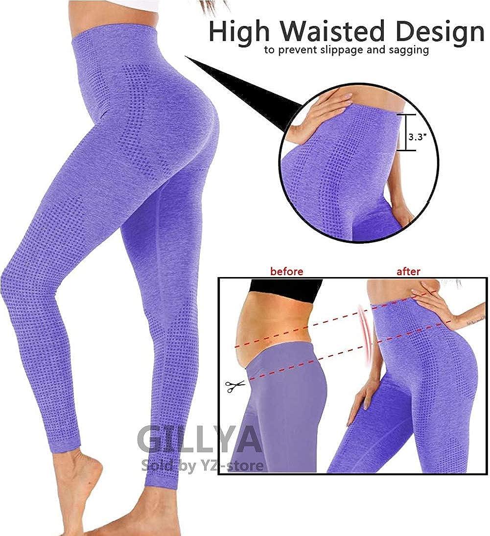 GILLYA Seamless Gym Workout Leggings Women High Waisted Vital Yoga Pants Tummy Control Butt Lift Sport Tights