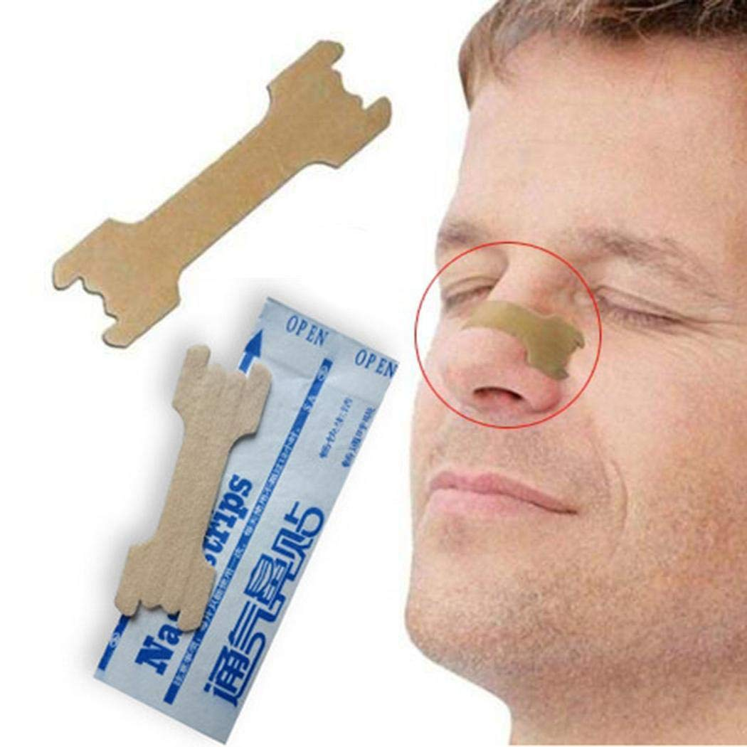 Dongtu 10 Pcs Non-Woven Fabric Relieve Nasal-Congestion Anti Snoring Nasal Strips