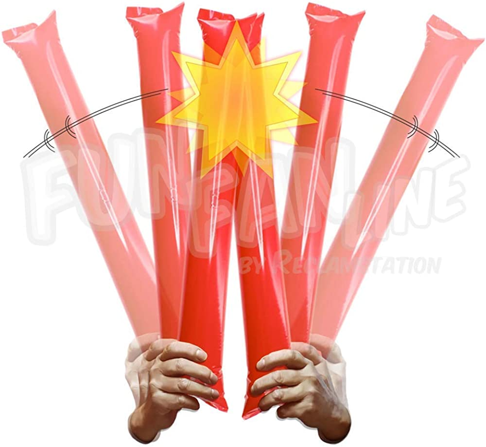 Noise Makers for Sporting Events Noise Sticks for Stadium or Parties. 100 Pairs Bam Bam Thunder Sticks Boom Sticks for Cheerleading FUN FAN LINE