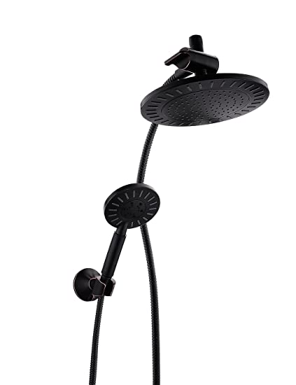 Bright Showers Rain Shower Head With Handheld Combo Set Includes Wall Mount  Suction Bracket, 3
