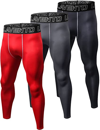 874d39ef8 Lavento Men s Compression Pants Baselayer Cool Dry Fleeced Ankle Leggings  Active Tights (1 Pack-