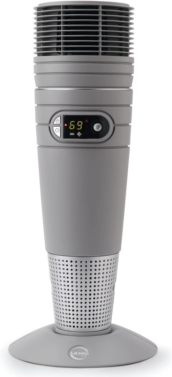 Lasko 1500 Watt Oscillating Ceramic Heater with Digital Controls and Built-In Safety Features and Remote Control Included