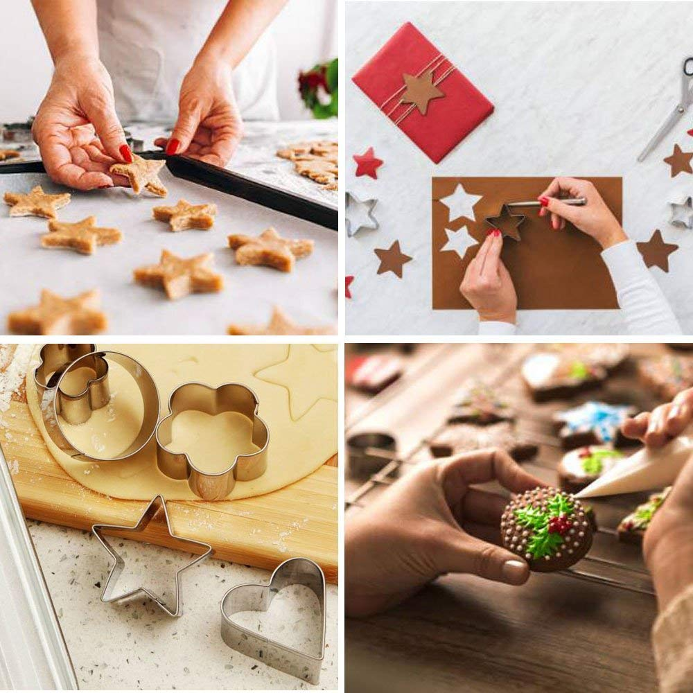 Assorted Sizes MIGOOL Fantastic Cake DIY Decorating Kit for Birthday Party Wedding Stainless Steel Cookie Cutters Set