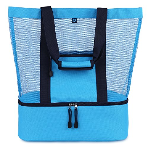 Malibu Beach Bag | 2-in-1 Mesh Beach Bag with Cooler | Beach Tote Bag - Large
