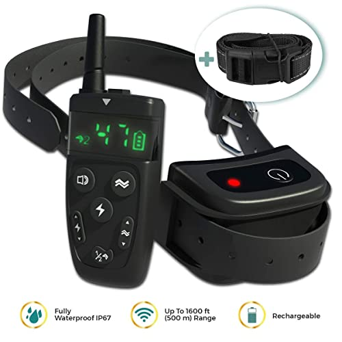 All-New-2019-Dog-Training-Collar-with-Remote-|-Long-Range-1600',-Shock,-Vibration-Control,-Rechargeable-&-Ipx7-Waterproof