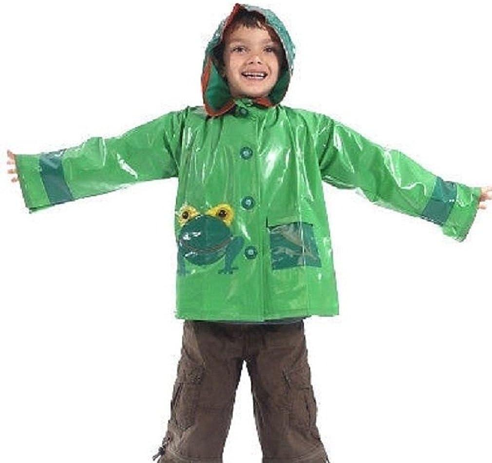 4-9 Years Raincoat Mac Jacket Scribble Kids Frog Design Waterproof Coat