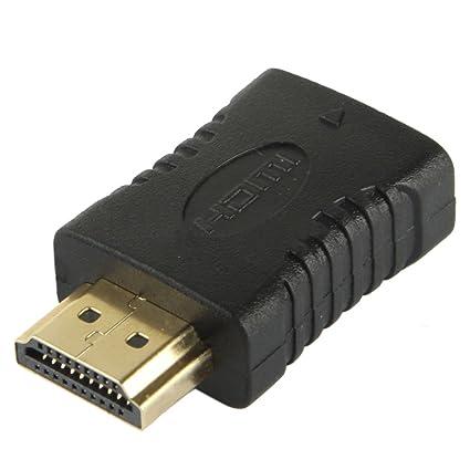 4391e9a13e378 Adaptador Conector HDMI Hembra a HDMI Macho  Amazon.es  Electrónica