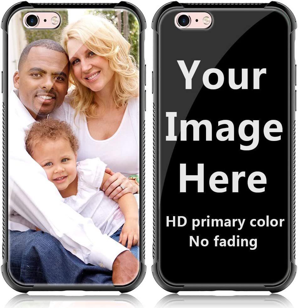 SHUMEI Custom Case for Apple iPhone 6 or iPhone 6S Glass Cover 4.7 inch Anti-Scratch Soft TPU Personalized Photo Make Your Own Picture Phone Cases