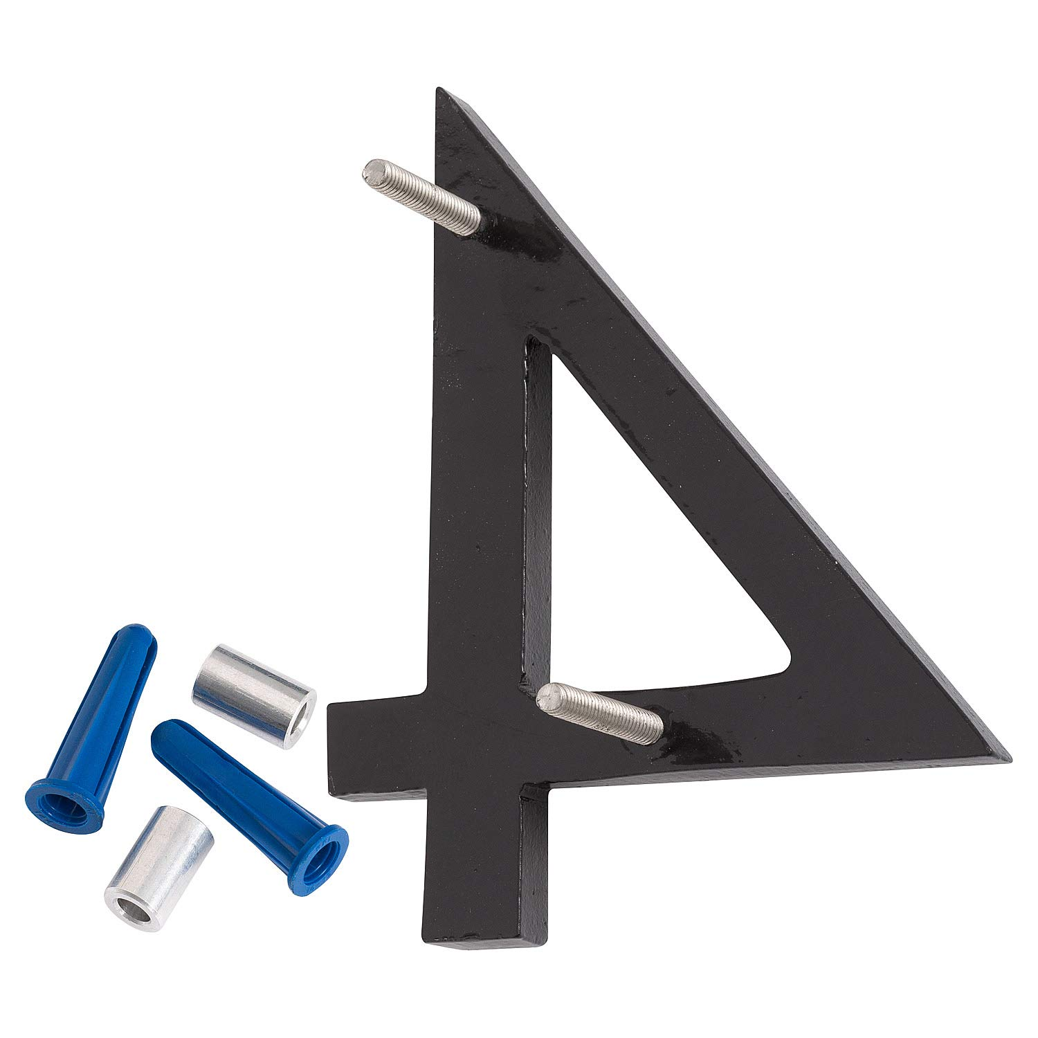 Montague Metal Products MHN-12-4-F-BK1 Floating House Number 12 x 10.06 x 0.375 Black
