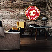 "Calgary Flames Wall Sign - 22"" Round Distr"