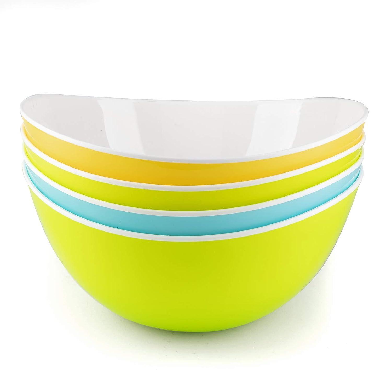 Bols /à C/ér/éales Bols petit D/éjeuner Individuel Plastique Snack Popcorn Soupe Dessert 0,48L Lot de 4