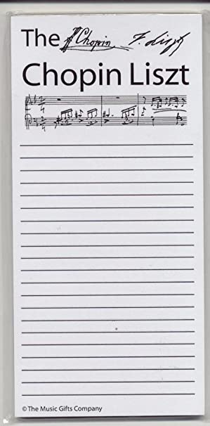 Chopin Liszt  Shopping List AmazonCoUk Musical Instruments