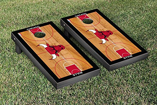 Chicago Bulls NBA Basketball Regulation Cornhole Game Set Basketball Court Version by Victory Tailgate
