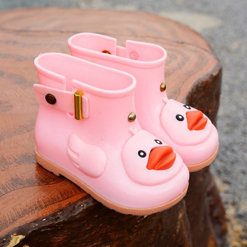 Toddler//Little Kid//Big Kid Boys Girls Rain Shoes Cartoon Duck Waterproof Warm Boots Shoe