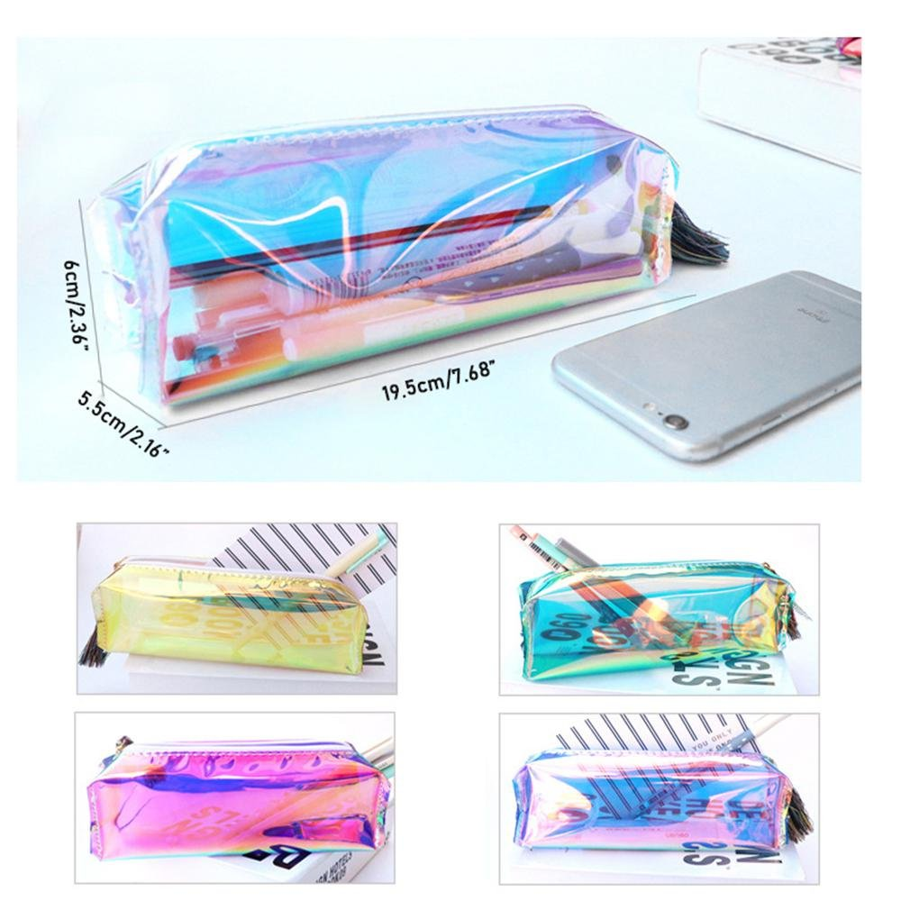 Amazon.com : Teepao Zip Pencil Bag Metallic Pencil Case ...