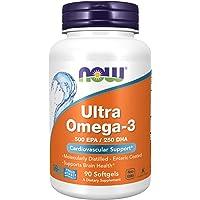 Now Foods Ultra Omega-3, 500 EPA/250 DHA, Softgels, 90ct