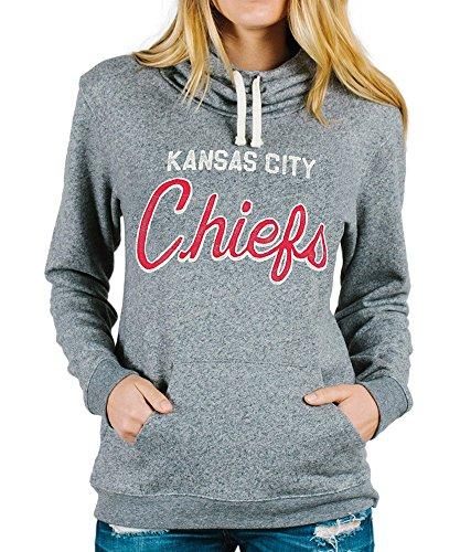 Junk Food womens Kansas City Chiefs Sunday Cowl Hoodie Juniors X-Small