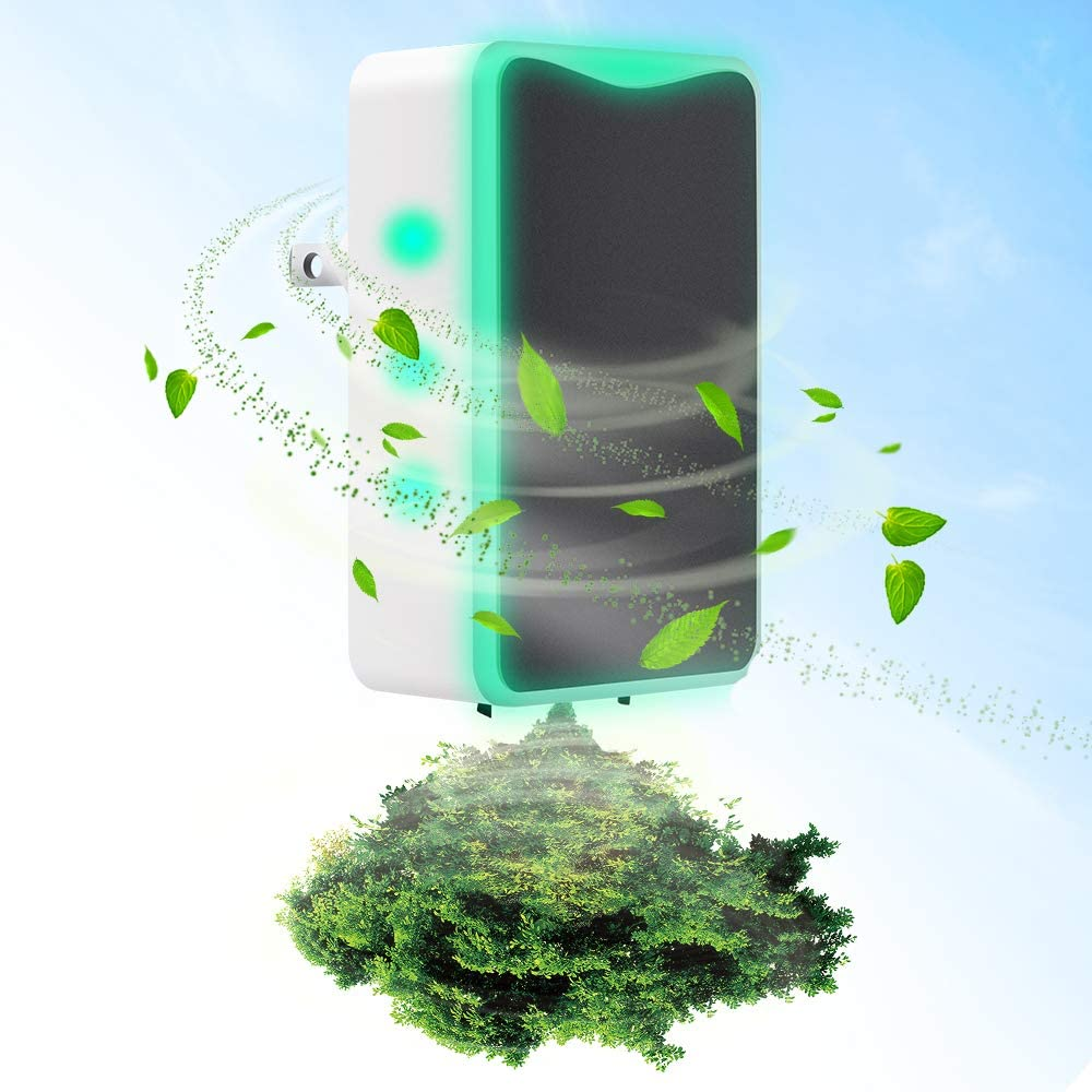 Air Purifier,Air Purifier for Home and Smoke and Office Pets Odor Direct Plug-in Portable Ionic Air Purifier Travel-Size Smoke Purifier