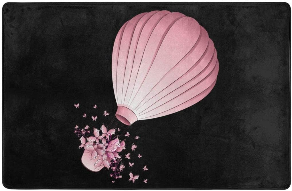 Area Rugs, Hot Air Balloon Non-Slip Floor Rugs Home Decor Carpet Mat 60