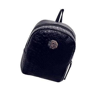 Goodsatar Mujer Fresco y sencillo Mini mochila Mochilas para la espalda Chicas adolescentes 20cm (L)X10cm (W)X23cm (H) (Negro): Amazon.es: Deportes y aire ...