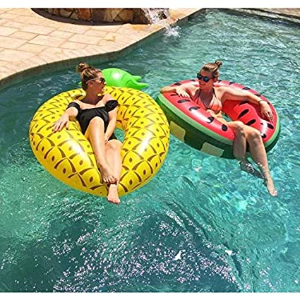 Inflatable Pineapple Pool Float Raft,Large Summer Outdoor Swimming Pool Inflatable Float Toy for Adults /& Kids