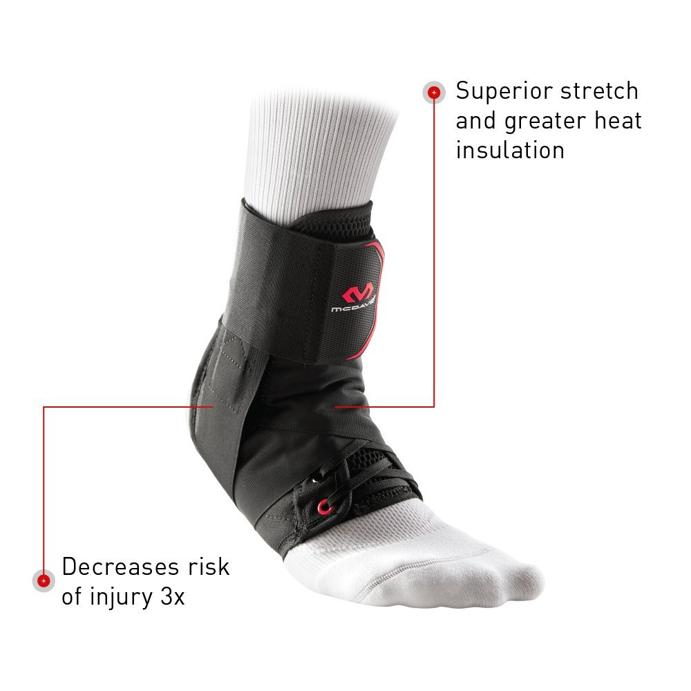 McDavid Level 3 Ankle Brace with Straps, Gray, X-Small by McDavid (Image #6)