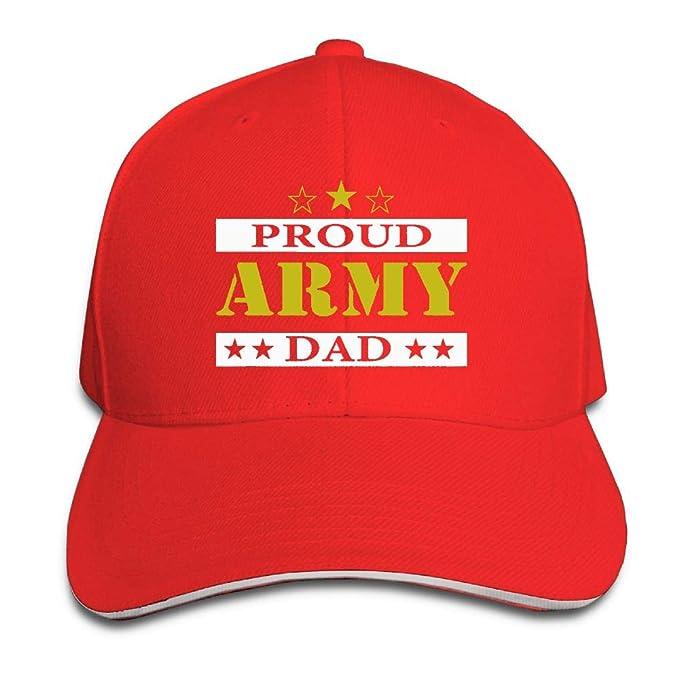 Amazon.com  HUDF KDDF Army Dad Proud Unisex Baseball Cap Dad Hat ... 33ed255d8dd
